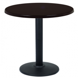 table restaurant ronde 60 cm plateau bois et pied m tal noir. Black Bedroom Furniture Sets. Home Design Ideas