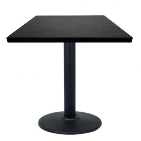 table restaurant 60x60 cm plateau bois et pied m tal noir. Black Bedroom Furniture Sets. Home Design Ideas