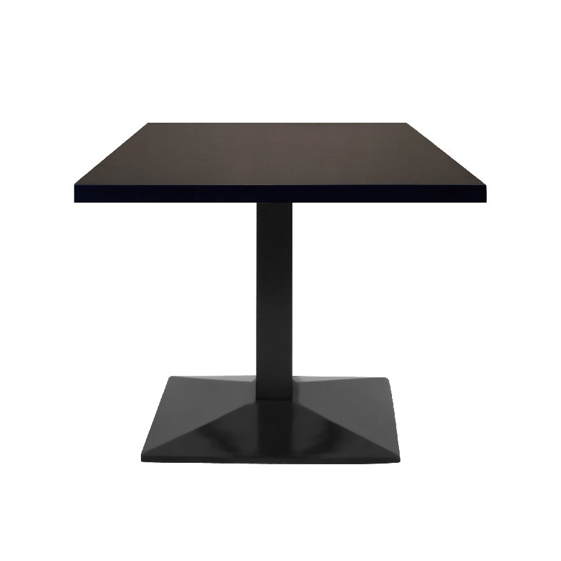 table restaurant 110x60 cm plateau bois et pied m tal noir petit prix. Black Bedroom Furniture Sets. Home Design Ideas