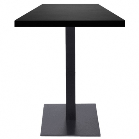table haute mange debout de restaurant 60x60 cm plateau bois et pied m tal noir petit prix. Black Bedroom Furniture Sets. Home Design Ideas