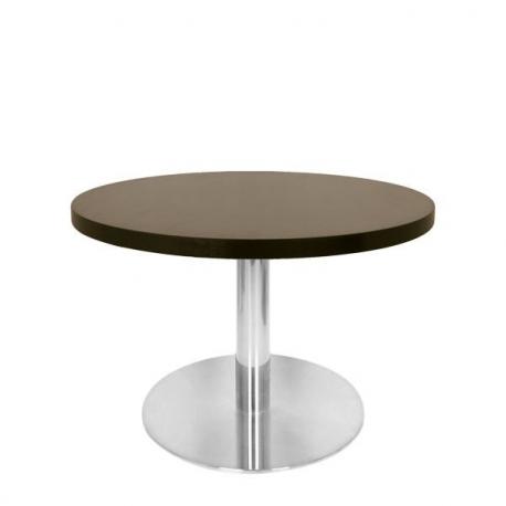 Table Basse Ronde Bar 60 Cm Plateau Bois Et Pied M 233 Tal Inox Bross 233 Petit Prix