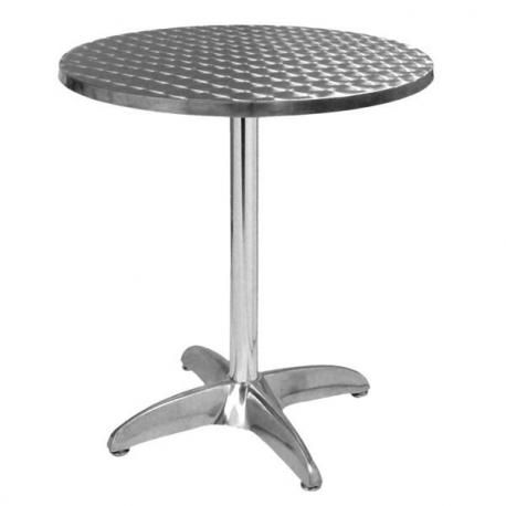table terrasse aluminium ronde 60 cm plateau aluminium petit prix. Black Bedroom Furniture Sets. Home Design Ideas