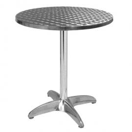 Table De Terrasse en Aluminium et Inox -EXT 102 -Ronde - 60 cm