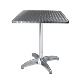 ALU10 -Table De Terrasse en Alu/Inox Carrée