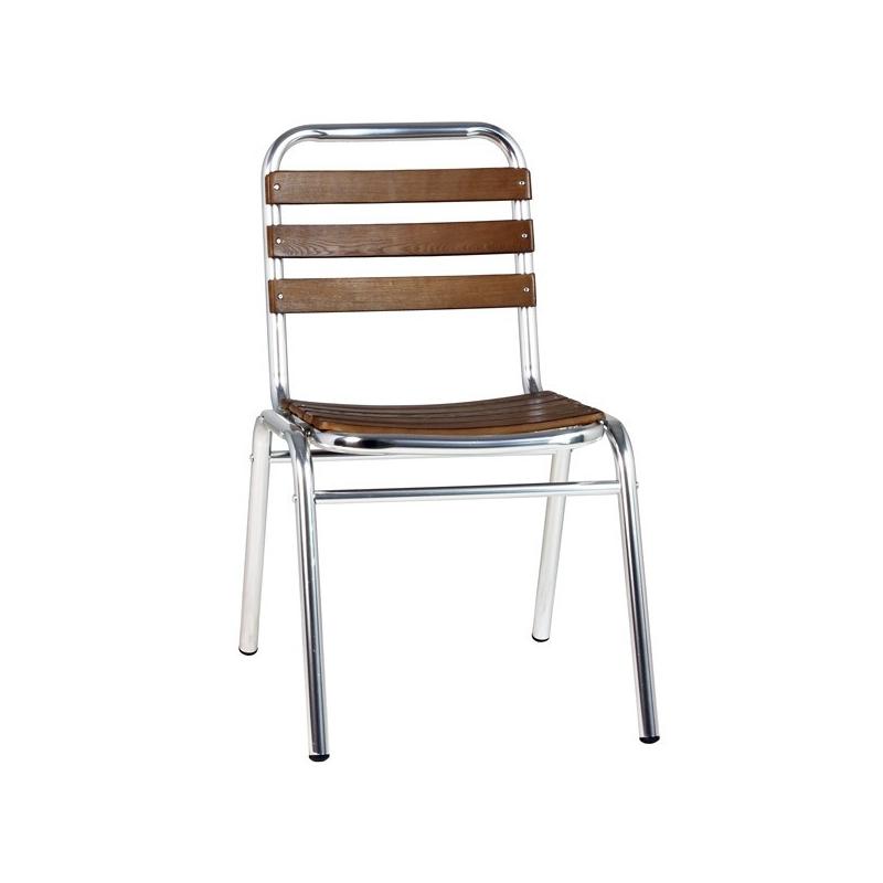 Chaise terrasse aluminium bois chaise aluminium bois for Table de terrasse aluminium