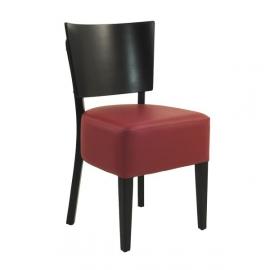 Chaise BOISY de bistrot en bois rembourée