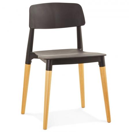 chaise design scandinave coque plastique noir empilable plusieurs coloris - Chaise Design Plastique