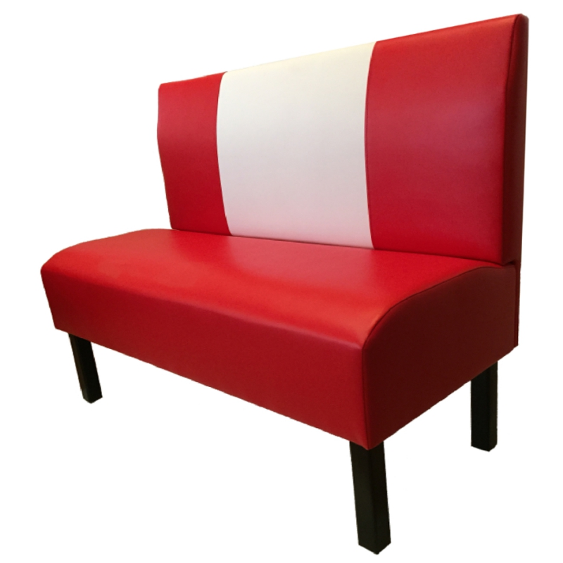banquette diner us sixties 60s en rouge rose bleu jaune choix en 16 coloris. Black Bedroom Furniture Sets. Home Design Ideas