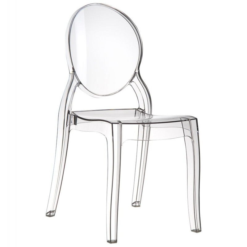 Chaise transparente louis chaise polypropyl ne for Chaise de bar transparente