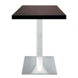 Table de Restaurant carrée - CI - inox brossé et mélaminé