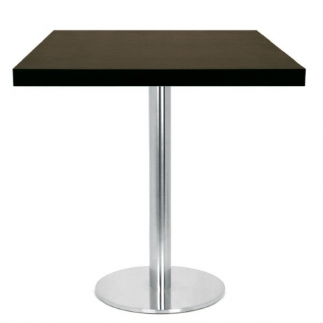table restaurant 60x60 cm plateau bois et pied inox bross. Black Bedroom Furniture Sets. Home Design Ideas
