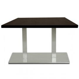 Table de Restaurant réctangulaire - YGR - Inox brossé et mélaminé