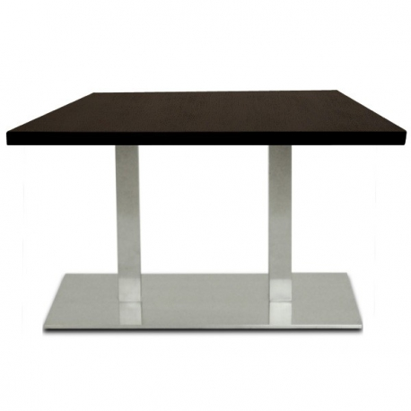 table restaurant 110x60 cm plateau bois et pied inox bross. Black Bedroom Furniture Sets. Home Design Ideas