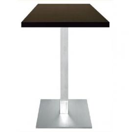 Table haute de Restaurant carré -HC2 - Inox brossé et mélaminé