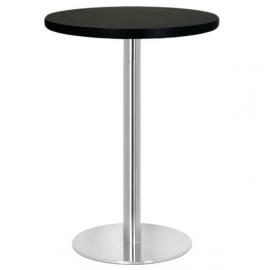 Table haute de Restaurant ronde -HC4 - Inox brossé et mélaminé