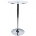 Table haute de Restaurant design ronde - VERRE II - verre et métal