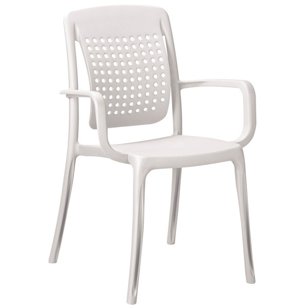 Fauteuil Chaise design coque polypropylène blanc - Plusieurs coloris