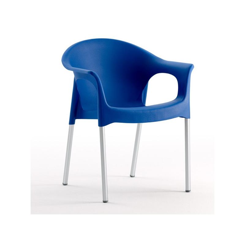 Fauteuil chaise design coque polypropylène bleu   plusieurs coloris