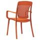Fauteuil Chaise de Restaurant Terrasse Design TORIE polypropylène et fibre de verre dossier flexible