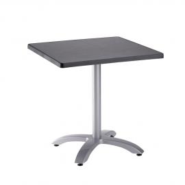 Table de Terrasse Design TABLE TOP carrée Agloméré résine polypropylène et alu