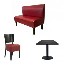 PACK BISTROT - Banquettes Tables Chaises de restaurant