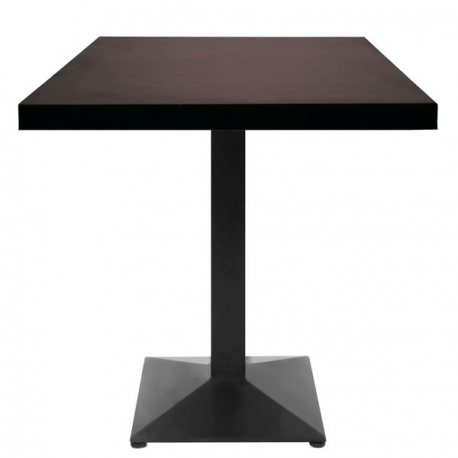 table restaurant 60x60 cm plateau bois et pied m tal noir petit prix. Black Bedroom Furniture Sets. Home Design Ideas