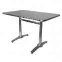 Table De Terrasse en Alu et Inox -EXT 107 Réctangulaire-120*70 cm