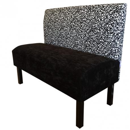 banquette accueil en velours au toucher doux 20 coloris. Black Bedroom Furniture Sets. Home Design Ideas