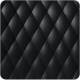 Mobilier design noir capiton