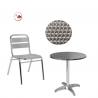 PACK TERRASSE ALU - Tables Ronde Chaises de restaurant
