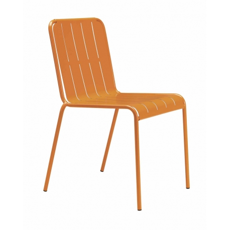 Chaise Extrieur Orange METAL