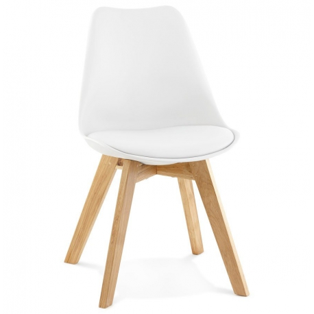 chaise scandinave bois et coque noire blanche ou grise assise rembourre - Chaise Scandinave Rembourree