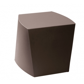 Pouf extérieur marron polypropylène ECCO_300
