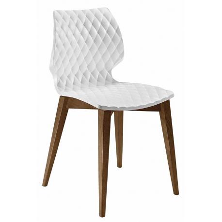 Chaise Design Bois Et Pvc Blanc ORIGAMI 105