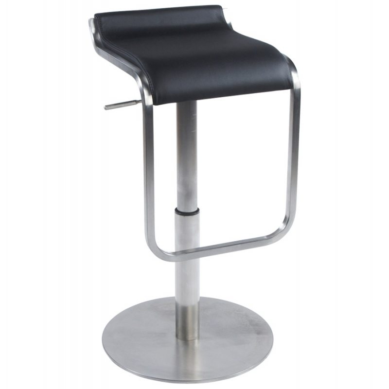 tabouret de bar design en similicuir et inox pour bar. Black Bedroom Furniture Sets. Home Design Ideas
