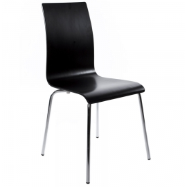 Chaise noir de Restaurant Design Bois LINEA