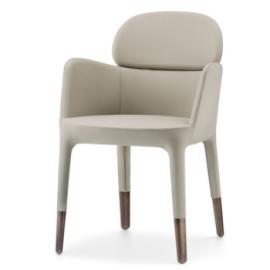 Fauteuil design simili cuir en aspect toucher doux ou for Fauteuil banquette design